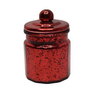 Pier 1 Imports Holiday Memories Candle Red Glass